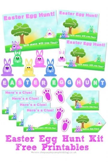 Free Printable Easter Egg Hunt Kit - everything you need to set up an Easter Egg Hunt at home!
