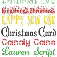 24 Fabulous and Free Christmas Fonts {Create Christmas: Day 2}