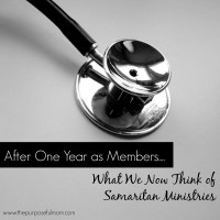 What We Think of Samaritan Ministries After One Year as Members