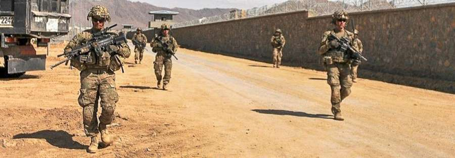 U.S. Soldiers with Bravo Troop, 3rd Squadron, 71st Cavalry Regiment, 3rd Brigade Combat Team, 10th Mountain Division