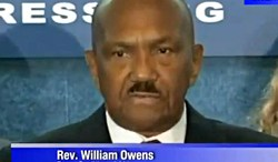 "Rev. William Owens, a judgmental ""pastor"" hating in God's name."