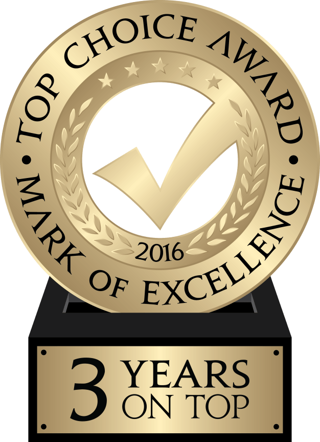 3 Years Top Choice Logo