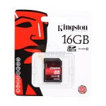 Kingston 16GB Secure Digital High-Capacity (SDHC) Class 10 Flash Card
