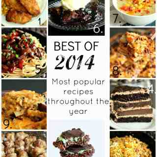 BEST OF 2014: The most popular recipes from the past year! Tons of tasty favorites! www.thereciperebel.com