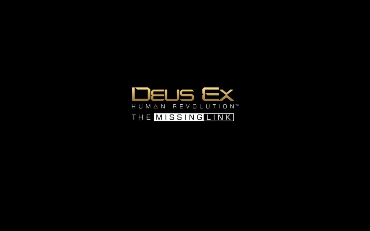 Deus Ex Human Revolution Missing Link DLC Title Screen