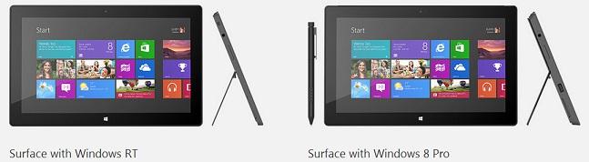 Surface RT vs Pro