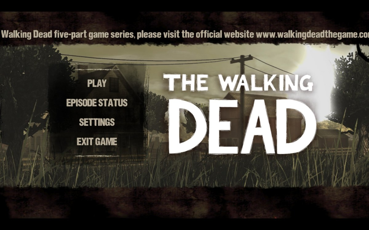 The Walking Dead Screenshot Wallpaper Title Screen