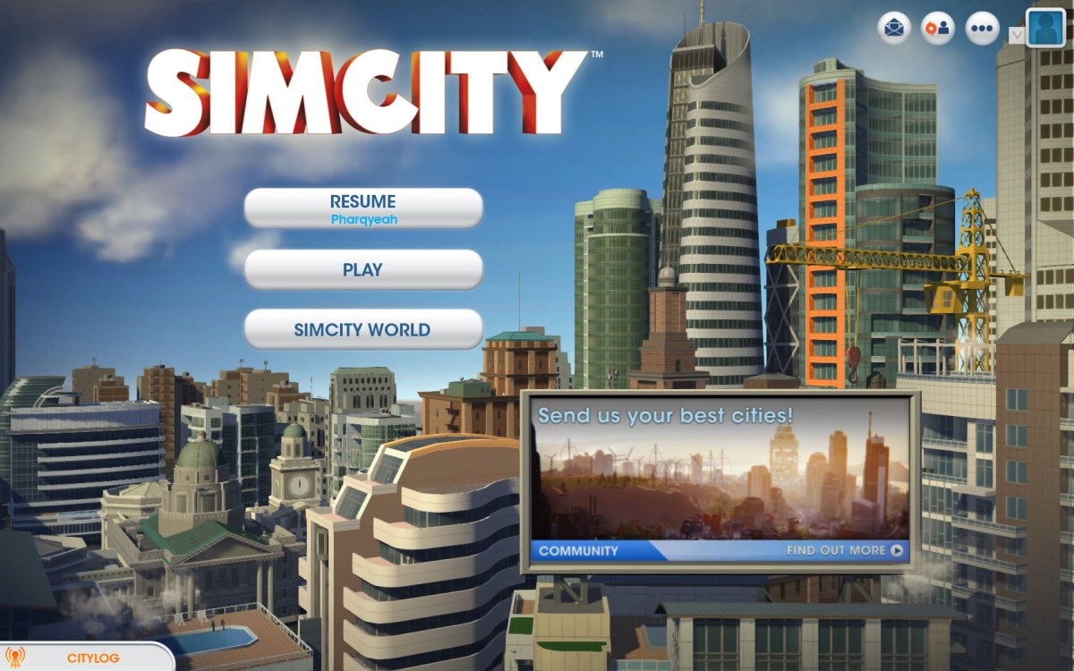 Sim City Screenshot Wallpaper Title Screen
