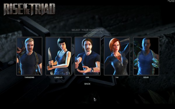 Rise of the Triad Screenshot Wallpaper Character Select