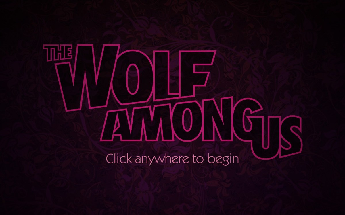 The Wolf Among Us Screenshot Wallpaper Title Screen