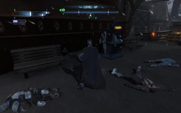 Batman Arkham Origins Review Screenshot Wallpaper Stuck in the walls