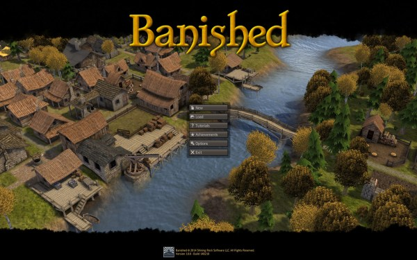 Banished Review Screenshot Wallpaper Title Screen