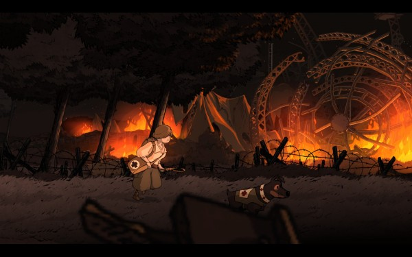 Valiant Hearts Review Screenshot Wallpaper Zepplin Down
