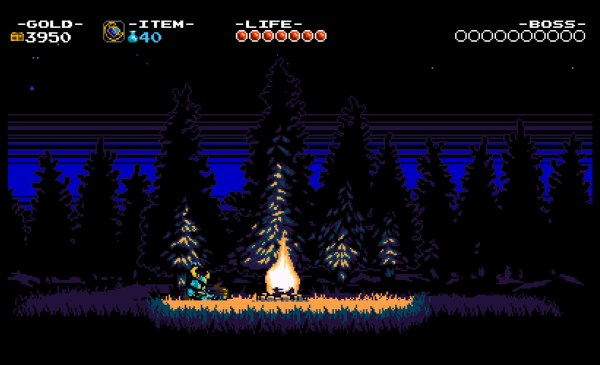 Shovel Knight Review Screenshot Wallpaper By the Campfire