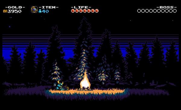 Shovel Knight Review Screenshot Wallpaper By the Campfire