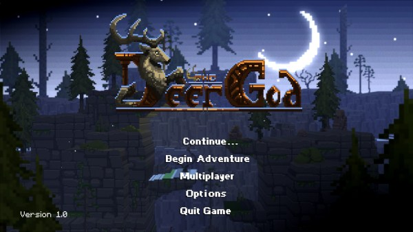 The Deer God Review Screenshot Wallpaper Title Screen