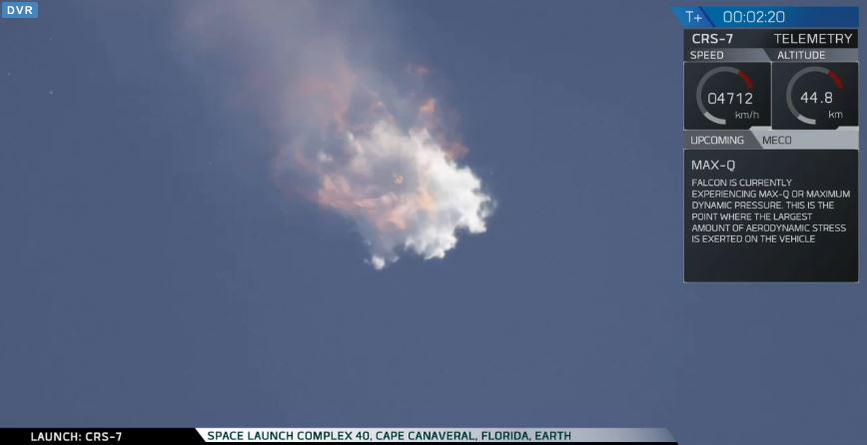 SpaceX CRS-7 Explosion
