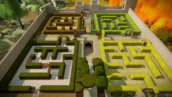 The Witness Review Screenshot Wallpaper Garden Maze