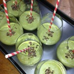 Mint Smoothies With Raw Cacao Nibs
