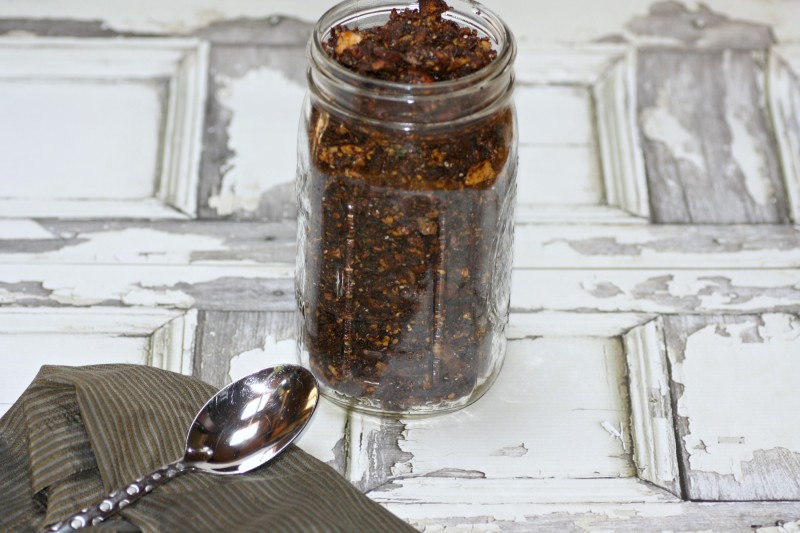 chocolate granola jar