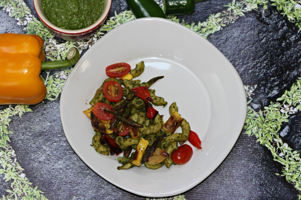 Pasta With Roasted Vegetables And Basil-Hemp Pesto | There ...
