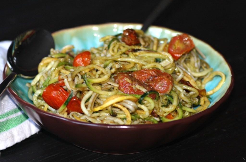 Grain-Free Spaghetti With Pesto