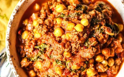 Spicy Turkey, Chickpeas, And Spinach-9643
