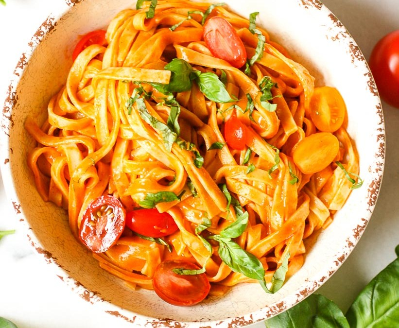 Roasted Red Pepper Fettuccine
