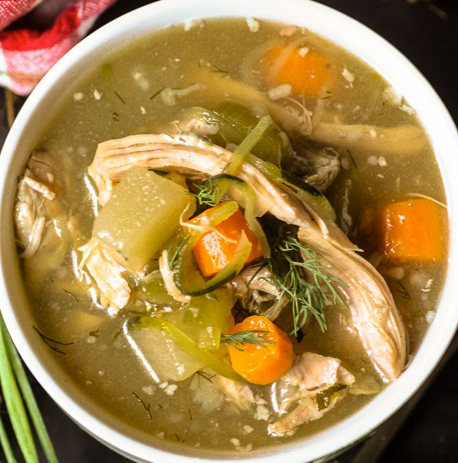Healing Slow Cooker Chicken Soup