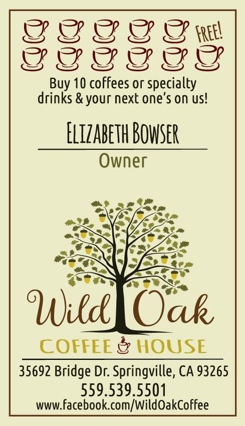 Wild Oak Coffee House Punch Card