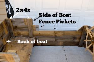 diy pirate boat side of boat