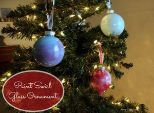 DIY paint swirl glass ornaments Home Crafts by Ali