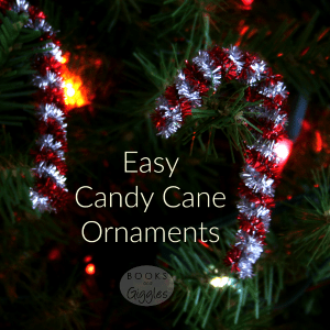 Easy Candy Cane Ornament by Books & Giggles