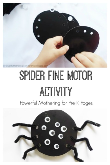 Spider Fine Motor Activity featured at MAde for Kids