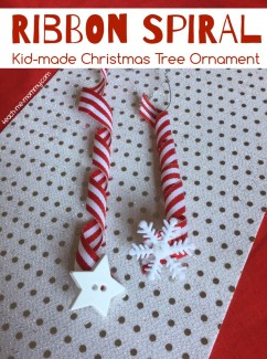 Spiral Ribbon Christmas Ornament Teach Me Mommy