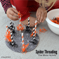 Spider Threading Fine Motor Activity