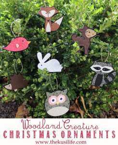Woodland Creatures Homemade Ornaments