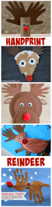 Rudolph the Red Nosed Reindeer Christmas Handprint Kid Crafts