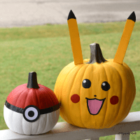 No Carve Pokemon Pumpkins