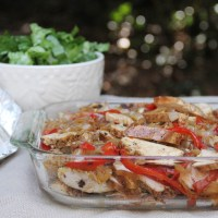 Make Ahead Chicken Fajitas for a Crowd
