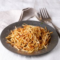 Crispy Parmesan and Pepper Matchstick Potatoes