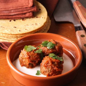 Chipotle Meatballs with Crema
