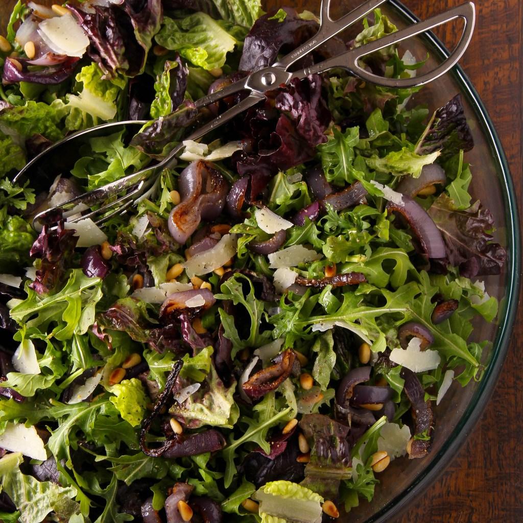 Roasted Red Onion Salad