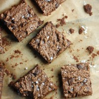 dark chocolate salted bourbon brownies.