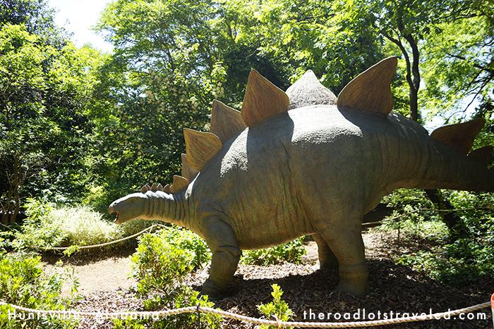Dinosaur in Huntsville Botanical Garden in Huntsville, Alabama