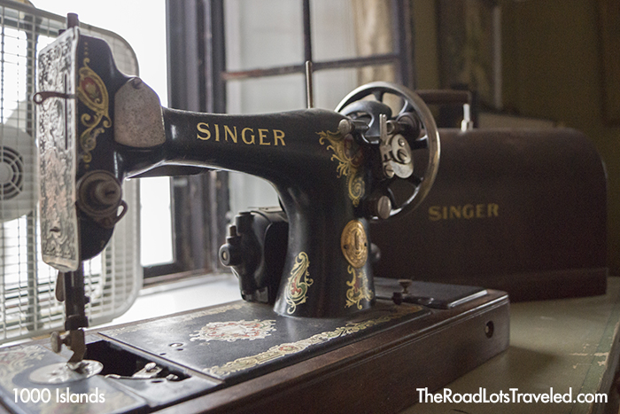 Singer Sewing Machine in Singer Castle on Dark Island in Thousand Islands