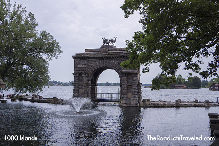 Peristyle Archway at Boldt Castle on Heart Island in 1000 Islands