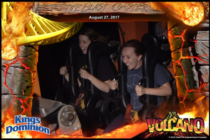 Kings Dominion Volcano Roller Coaster