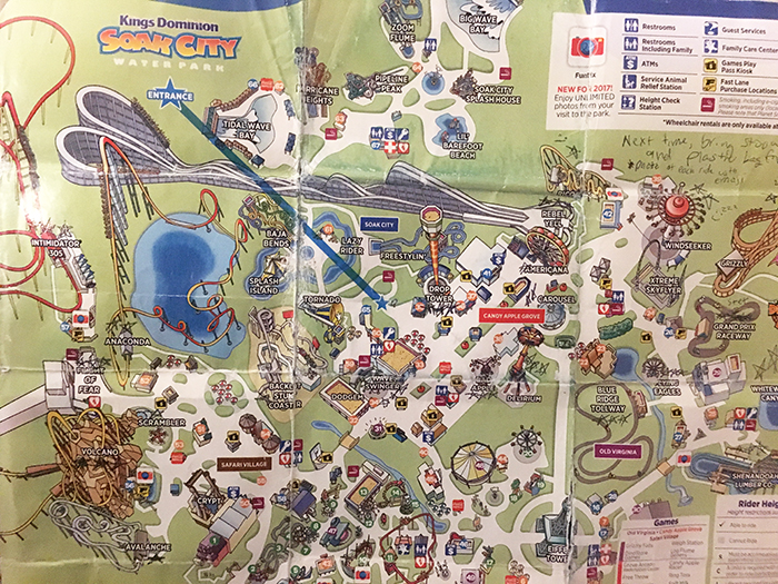 Map of Kings Dominion