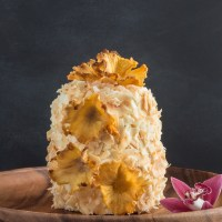 Aloha Tropical Layer Cake with Pineapple Florettes
